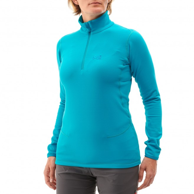 Micro polaire femme - ski - rose LD TECH STRETCH TOP Millet 3