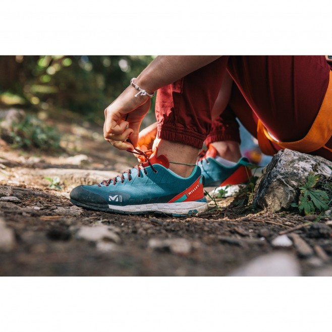 Chaussures - basses - Femme - Turquoise AMURI LEATHER W Millet 2