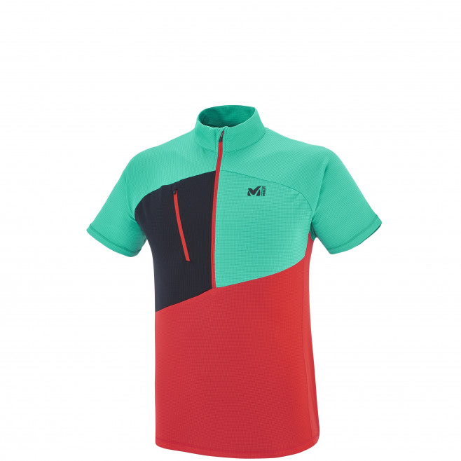 Alpinisme - Tee-shirt homme - Rouge ELEVATION ZIP SS Millet