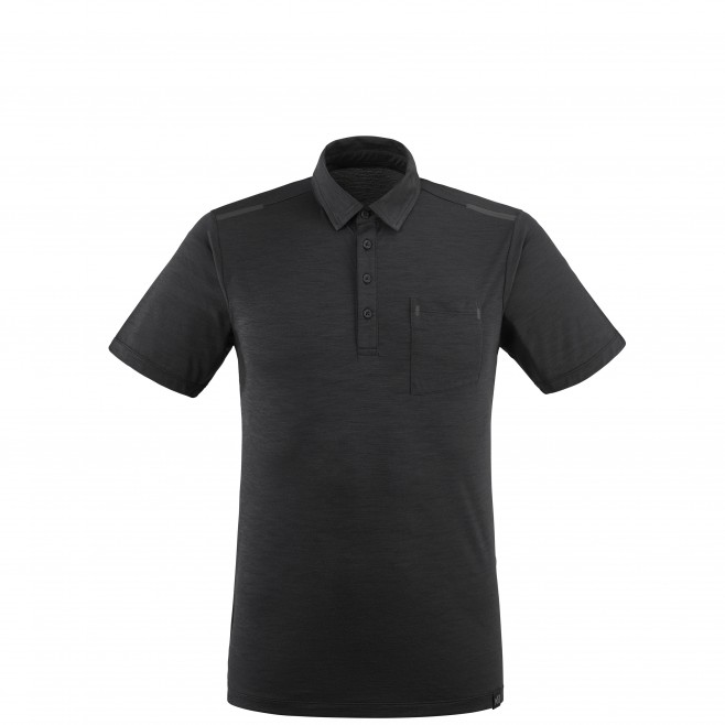 Polo manches courtes - Homme - Noir IMJA WOOL POLO M Millet