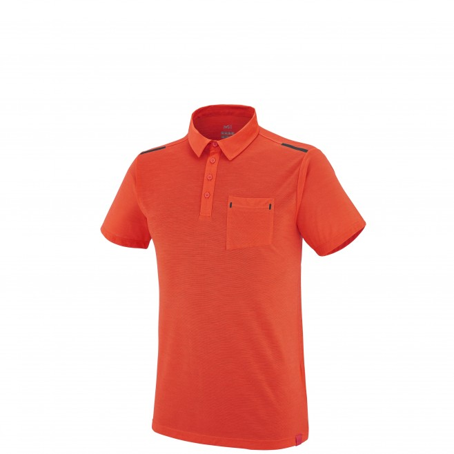 Trekking - Tee-shirt homme - Orange IMJA WOOL POLO Millet