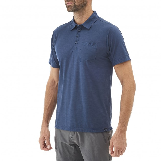 Polo homme - randonnée - gris IMJA WOOL POLO Millet 2