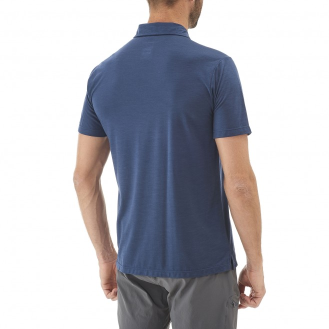 Polo homme - randonnée - gris IMJA WOOL POLO Millet 3