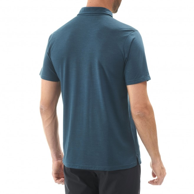 Polo homme - randonnée - marine IMJA WOOL POLO Millet 3