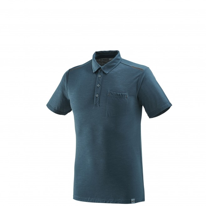 Polo homme - randonnée - marine IMJA WOOL POLO Millet