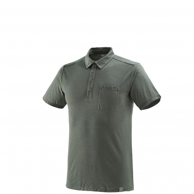 Polo - Homme - gris Imja Wool Polo Castle Gray Millet