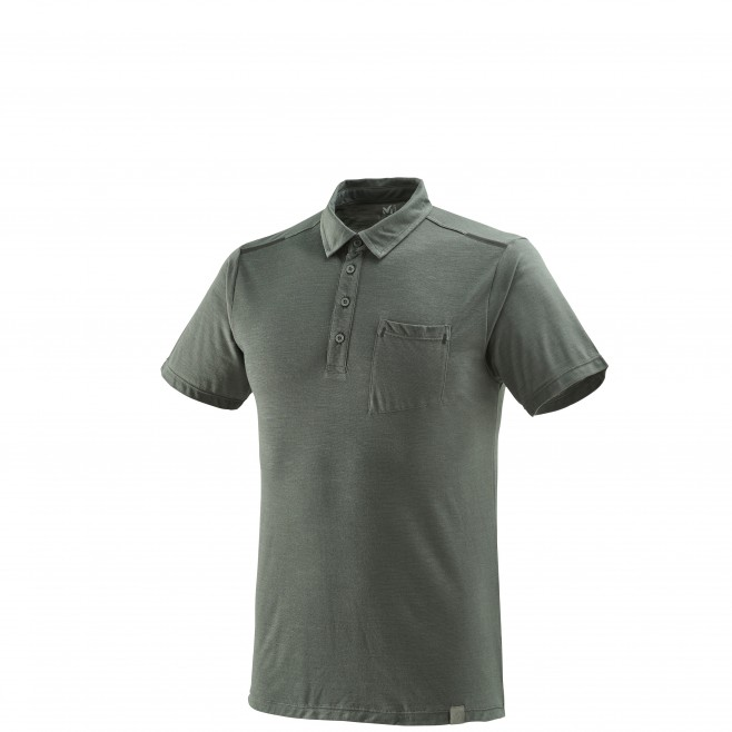 Polo homme - randonnée - gris IMJA WOOL POLO Millet