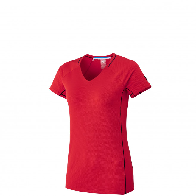 Tee-Shirt manches courtes femme - alpinisme - rouge LD TRILOGY DELTA TS SS Millet
