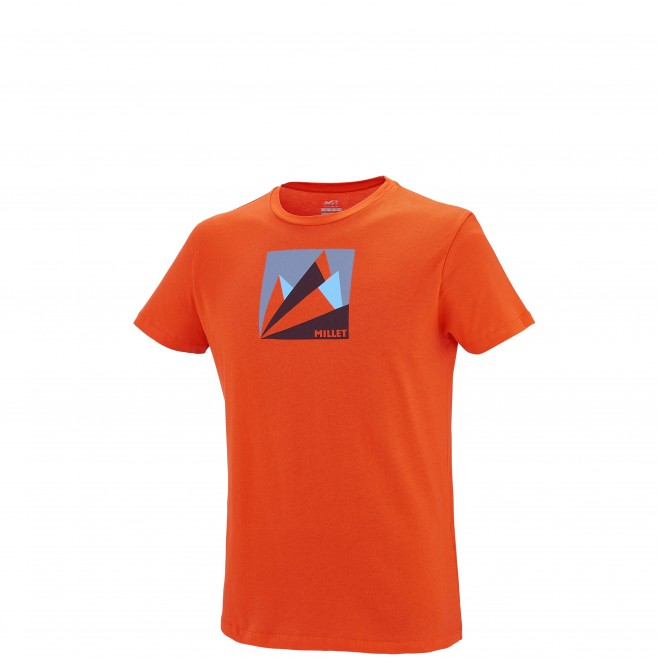 Escalade - Tee-shirt homme - Orange MILLET FAN MOUNTAIN TS SS Millet