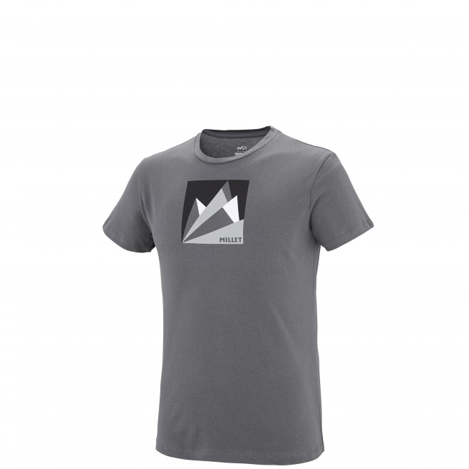 Tee-Shirt manches courtes homme - escalade - gris MILLET FAN MOUNTAIN TS SS Millet