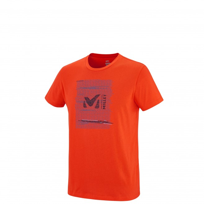 Escalade - Tee-shirt homme - Orange MILLET RISE UP TS SS Millet