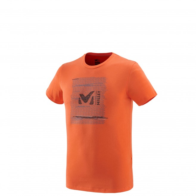 Tee-Shirt manches courtes homme - escalade - orange MILLET RISE UP TS SS Millet