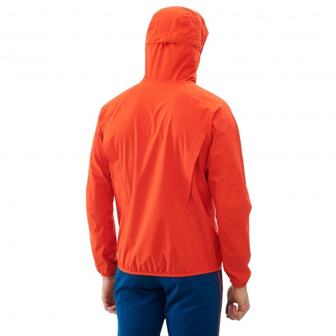 Veste imperméable homme - trail - orange LTK RUSH 2.5L JKT Millet 3