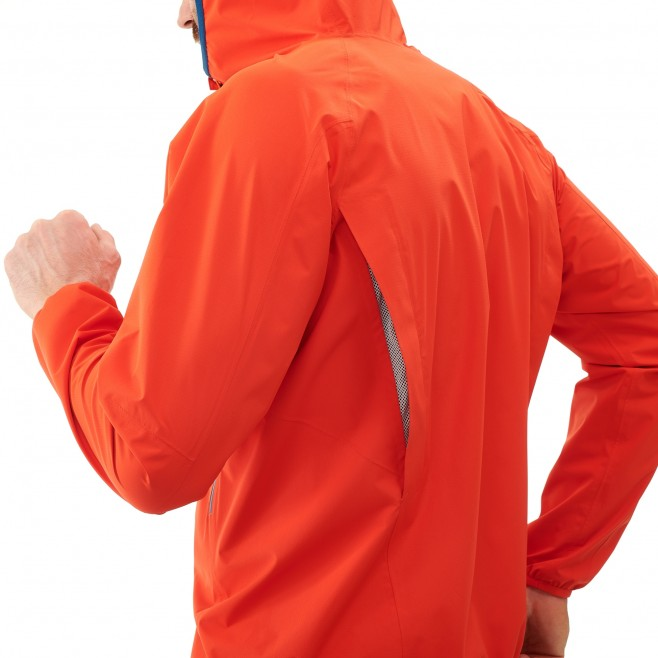 Veste imperméable homme - trail - orange LTK RUSH 2.5L JKT Millet 4