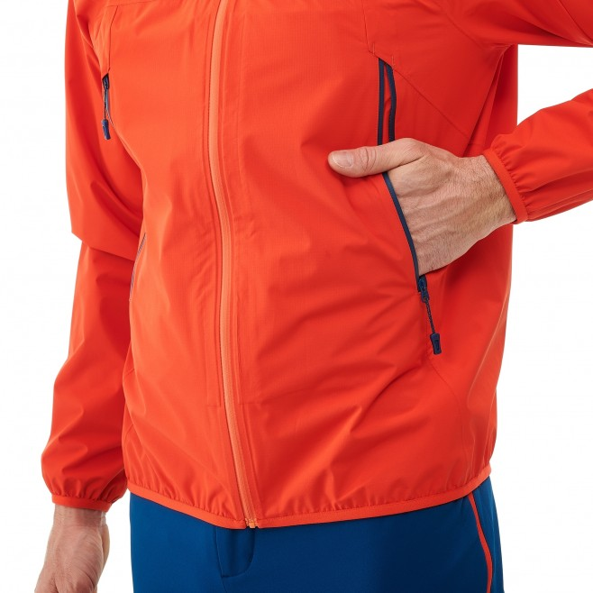 Veste imperméable homme - trail - orange LTK RUSH 2.5L JKT Millet 5