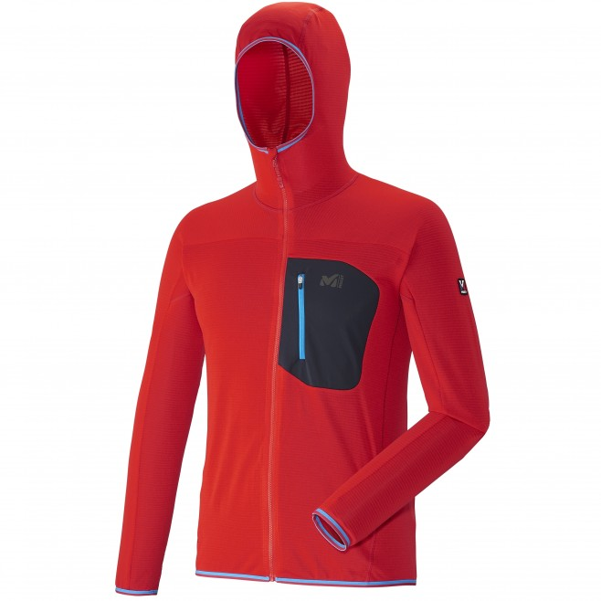 Micro polaire homme - alpinisme - rouge TRILOGY LIGHT HOODIE Millet