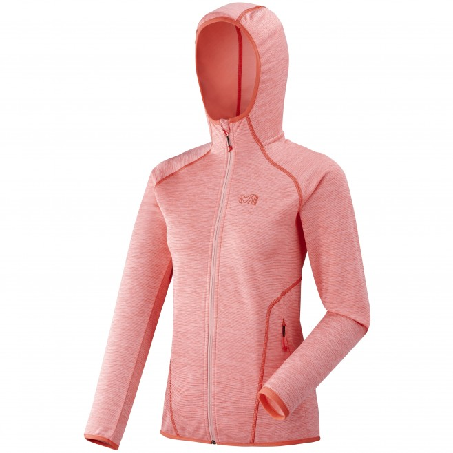 Micro polaire femme - randonnée - rose LD TWEEDY MOUNTAIN HOODIE Millet