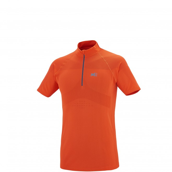 Trail - Tee-shirt homme - Orange LTK SEAMLESS ZIP SS Millet