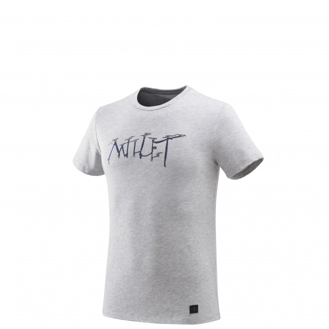 Tee-Shirt manches courtes homme - escalade - gris KALOGRIA TS SS Millet