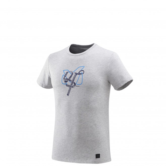 Tee-Shirt manches courtes homme - escalade - gris GRANITOLA TS SS Millet