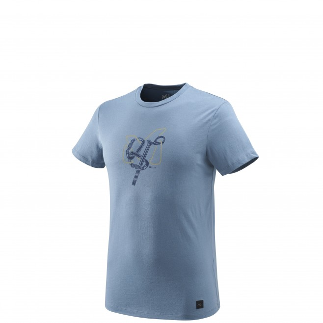 Tee-Shirt manches courtes homme - escalade - bleu GRANITOLA TS SS Millet