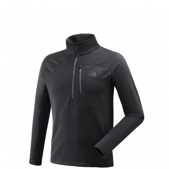 Micro polaire homme - ski - noir TECHNOSTRETCH ZIP Millet
