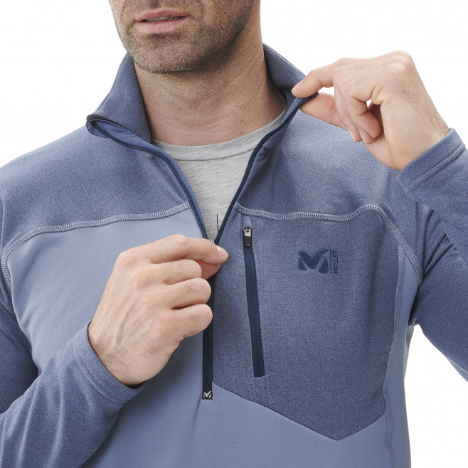 Micro polaire - homme - rouge TECHNOSTRETCH ZIP M Millet 2