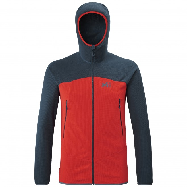 Micro-polaire  - Homme - rouge K LIGHTGRID HOODIE M Millet