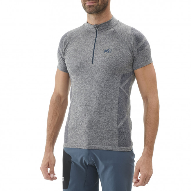 Tee-Shirt manches courtes homme - trail - gris Ltkseamless Zss High Rise Millet 2