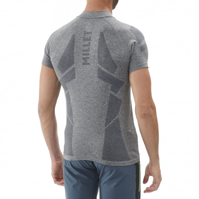 Tee-Shirt manches courtes homme - trail - gris Ltkseamless Zss High Rise Millet 3