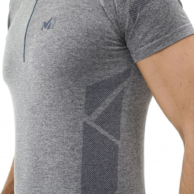 Tee-Shirt manches courtes homme - trail - gris Ltkseamless Zss High Rise Millet 5