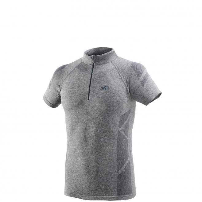 Tee-Shirt manches courtes homme - trail - gris Ltkseamless Zss High Rise Millet