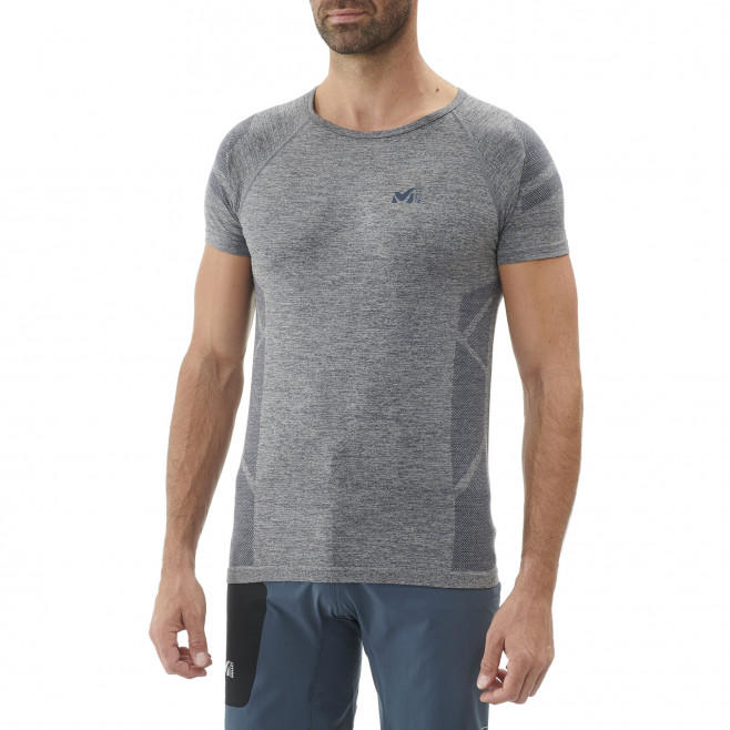 Tee-Shirt manches courtes homme - trail - orange LTK SEAMLESS LIGHT TS SS Millet 2
