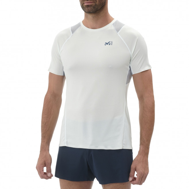 Tee-Shirt manches courtes homme - trail - blanc LTK INTENSE LIGHT TS SS Millet 2