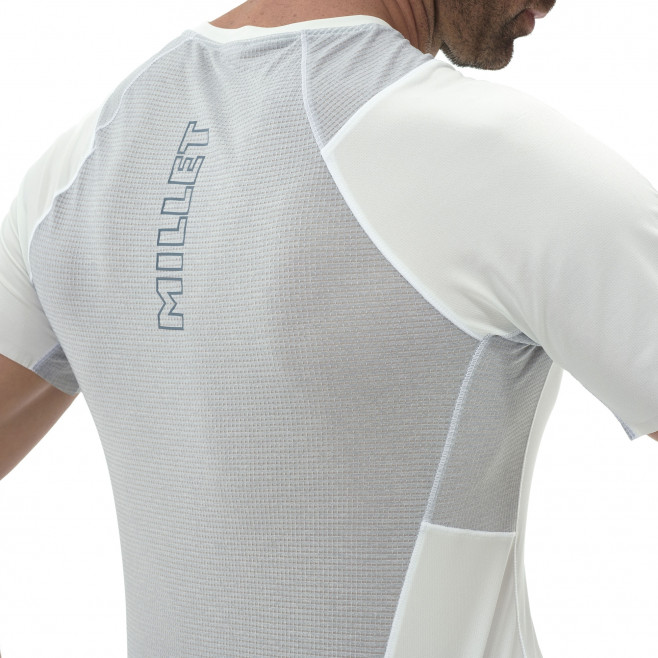 Tee-Shirt manches courtes homme - trail - blanc LTK INTENSE LIGHT TS SS Millet 4