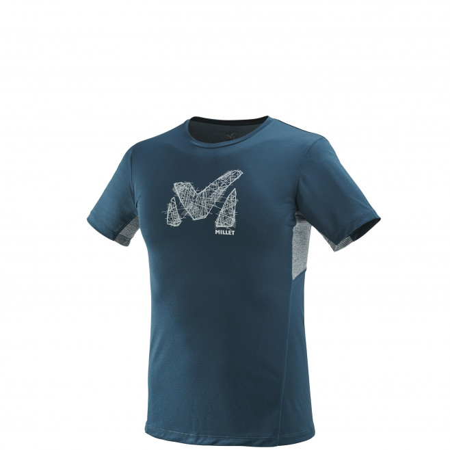 Tee-Shirt manches courtes homme - trail - marine LTK LIGHT TS SS Millet