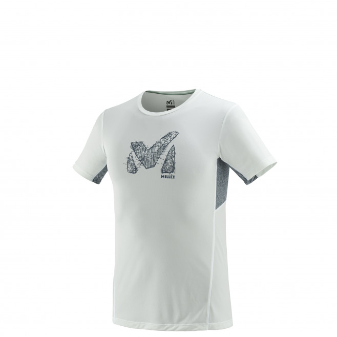 Tee-Shirt manches courtes homme - trail - blanc LTK LIGHT TS SS Millet