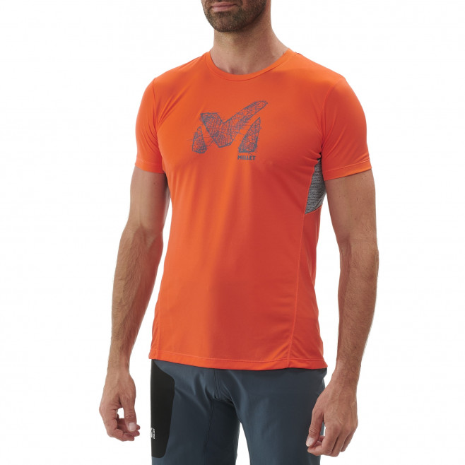 Tee-Shirt manches courtes homme - trail - orange LTK LIGHT TS SS Millet 2