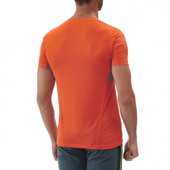 Tee-Shirt manches courtes homme - trail - orange LTK LIGHT TS SS Millet 3