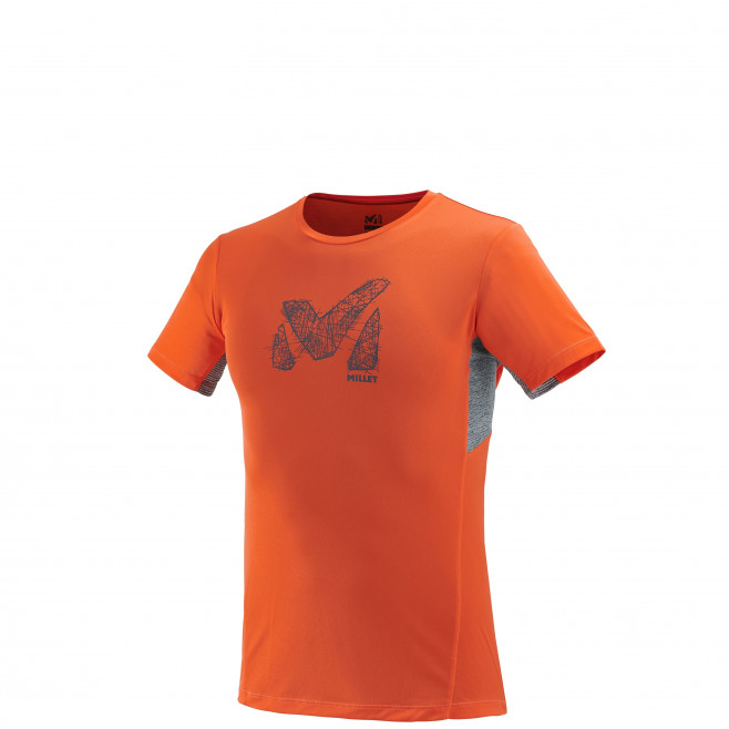 Tee-Shirt manches courtes homme - trail - orange LTK LIGHT TS SS Millet