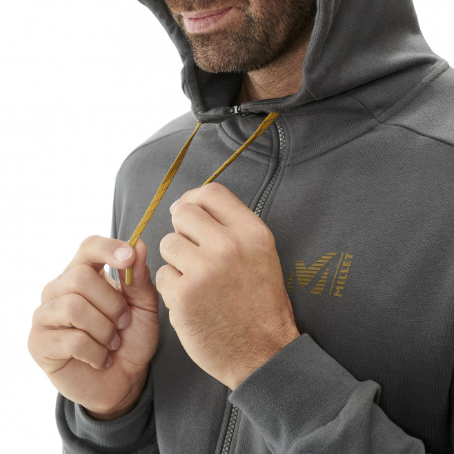 Sweat look urbain - homme - kaki MILLET SWEAT ZIP HOODIE M Millet 5
