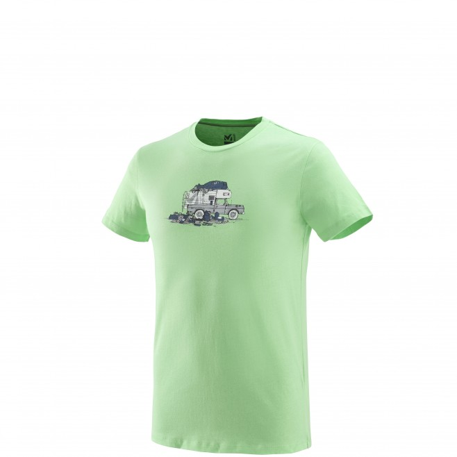 Tee-Shirt manches courtes homme - escalade - vert PACK & LOAD TS SS Millet