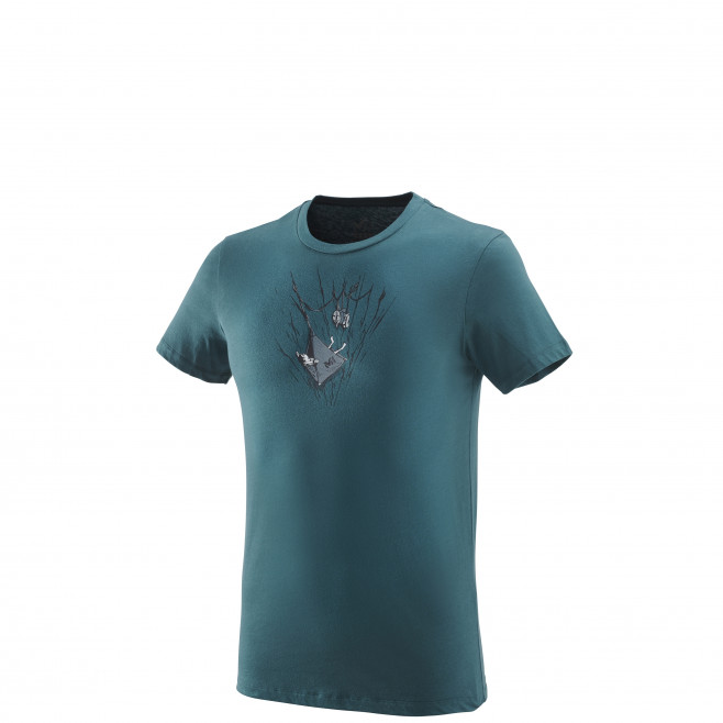 Tee-Shirt manches courtes homme - escalade - vert ON THE LEDGE TS SS Millet