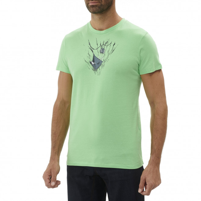 Tee-Shirt manches courtes homme - escalade - vert ON THE LEDGE TS SS Millet 2