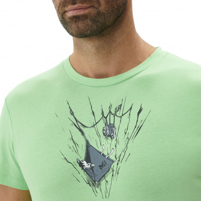 Tee-Shirt manches courtes homme - escalade - vert ON THE LEDGE TS SS Millet 4
