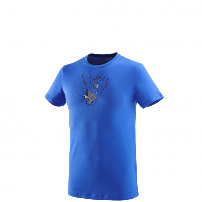 Tee-Shirt manches courtes homme - escalade - bleu ON THE LEDGE TS SS Millet