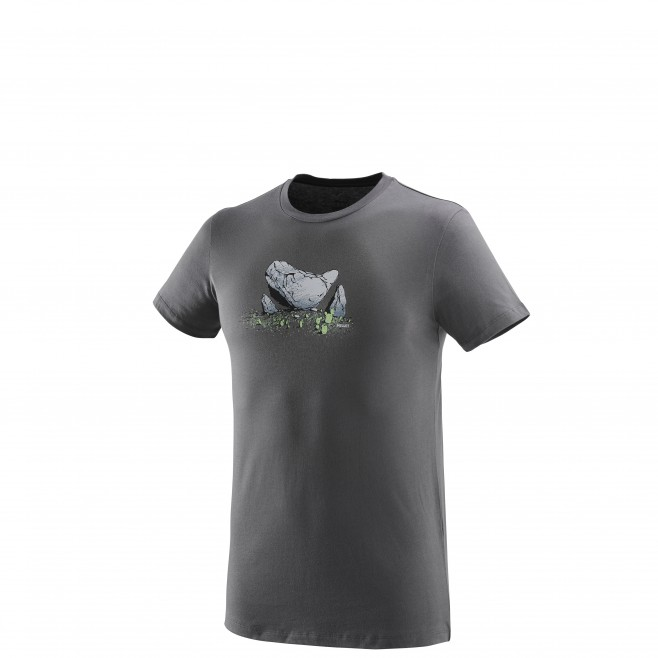 Tee-Shirt manches courtes homme - escalade - gris BOULDER DREAM TS SS Millet
