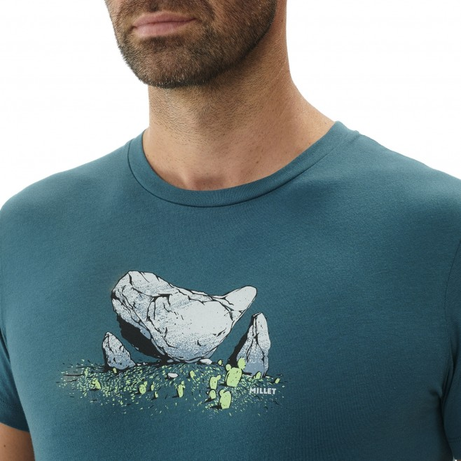 Tee-Shirt manches courtes homme - escalade - gris BOULDER DREAM TS SS Millet 4