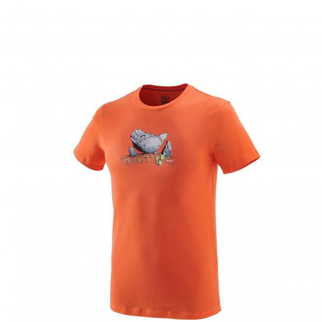 Tee-Shirt manches courtes homme - escalade - orange BOULDER DREAM TS SS Millet