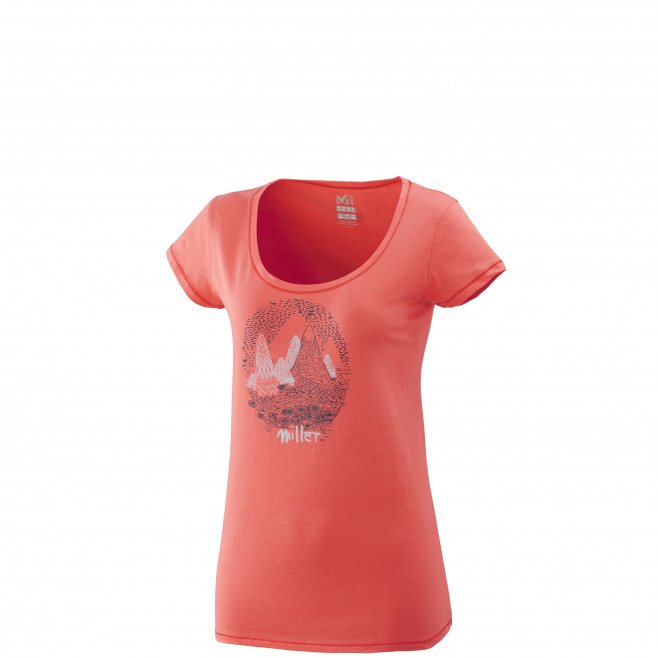 Tee-Shirt manches courtes femme - escalade - rose LD ISATIS TS SS Millet